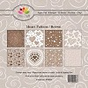 Dixi Craft - Paperpack - Heart Pattern - Bruin