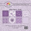 Dixi Craft - Paperpack - Heart Pattern - Paars