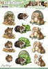 Amy Design - 3D Pushout - Amy Design - Animal Medley - Fluffy Animals