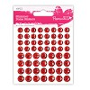 Shimmer Dome Stickers (60) - Red