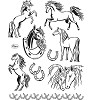 Viva Decor - Clear Stamps - Horses