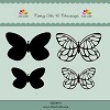 Dixi Craft - Die & Clearstamp - Butterflies