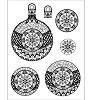 Viva Decor - Clear Stamps - Kerstornament sneeuwklok 3D