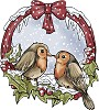 Yvonne Creations - Clearstamp - Vogels in ronde krans