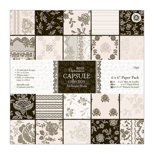 6 x 6 Paper Pack (32pk) - Capsule Collection - Midnight Blush