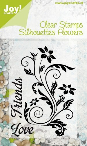 Joy!Crafts - Clear Stamps - Silhouettes Flowers Friends Love