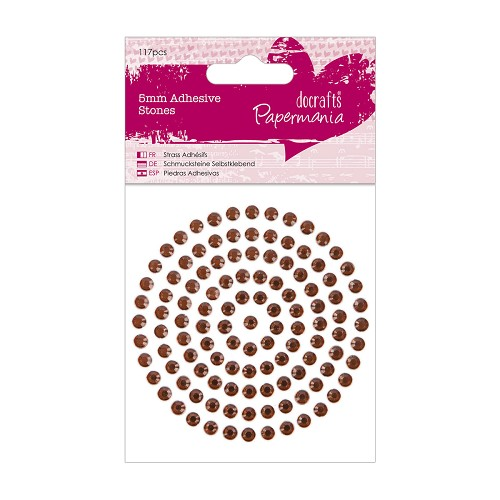 5mm Adhesive Stones (117pcs) - Bronze
