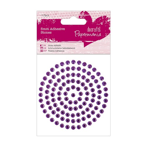 5mm Adhesive Stones (117pcs) - Purple