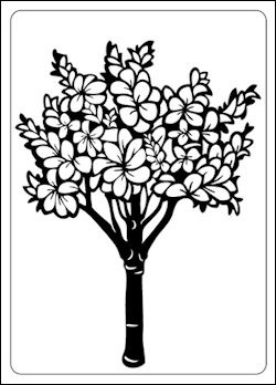 Crafts-Too - Embossing Folder - Floral Tree