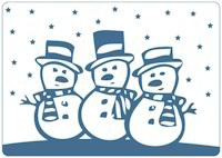 Crafts-Too - Embossing Folder Snowmen