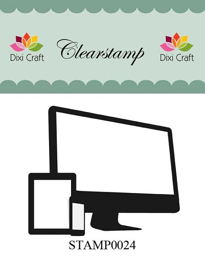 Dixi Craft - Clearstamp - Monitor