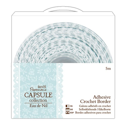 5m Adhesive Crochet Border - Capsule Collection - Eau De Nil