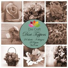 Dixi Craft - Toppers - Flowers - Sepia