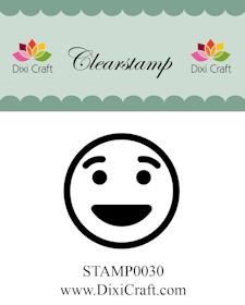 Dixi Craft - Clearstamp - smiley 2
