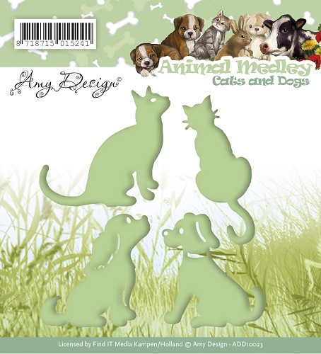 Amy Design - Die - Animal Medley - Cats and Dogs