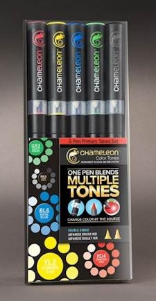 Chameleon 5-pen set Primary Tones