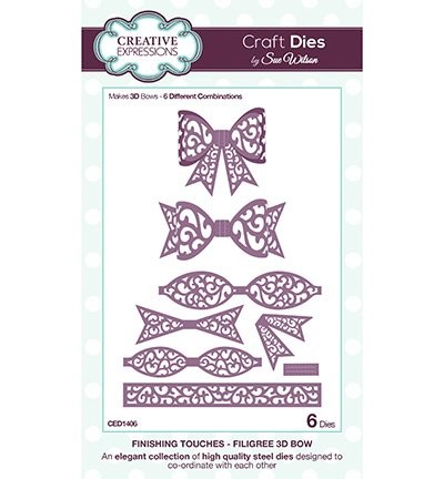 Creative Expressions - Craft Dies - Finishing Touches - Filigree 3 Bow