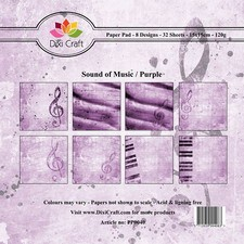 Dixi Craft - Paperpack - Sound of Music - Purple