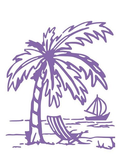 Couture Creations - Embossing folder - Great Island Paradise