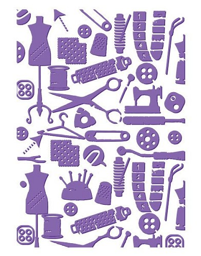 Couture Creations - Embossing folder - Bibs And Bobs