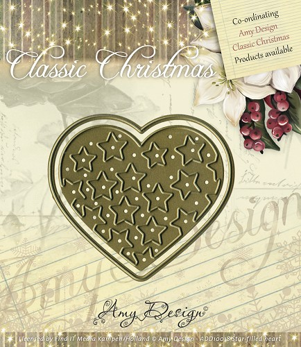 Amy Design - Die - Classic Christmas - Star-filled heart