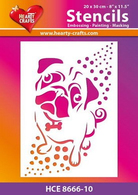 Hearty Crafts - Stencil - Hond