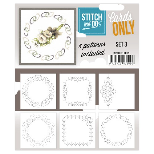 Card Deco - Stitch & Do - Cards only - Set 3