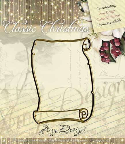 Amy Design - Die - Classic Christmas - Scroll