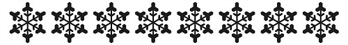 Border embossing folders 150x20mm snowflakes border