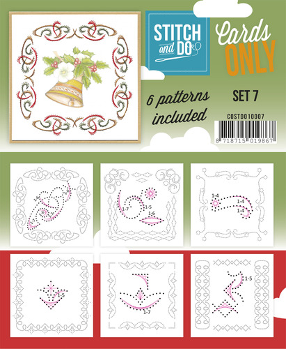 Card Deco - Stitch & Do - Cards only - Set 7