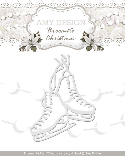 Amy Design - Die - Brocante Christmas - Figure Skates