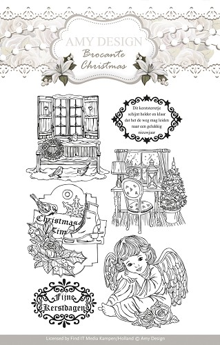 Amy Design - Clearstamp - Brocante Christmas