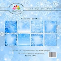 Dixi Craft - Paperpack - Christmas Time - Blue