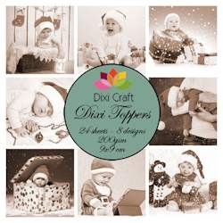 Dixi Craft - Toppers - Christmas babies sepia