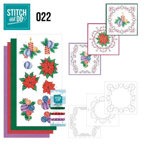 Card Deco - Stitch and Do - Borduurset 22 - Christmas
