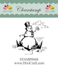 Dixi Craft - Clearstamp - Snowman in landscape