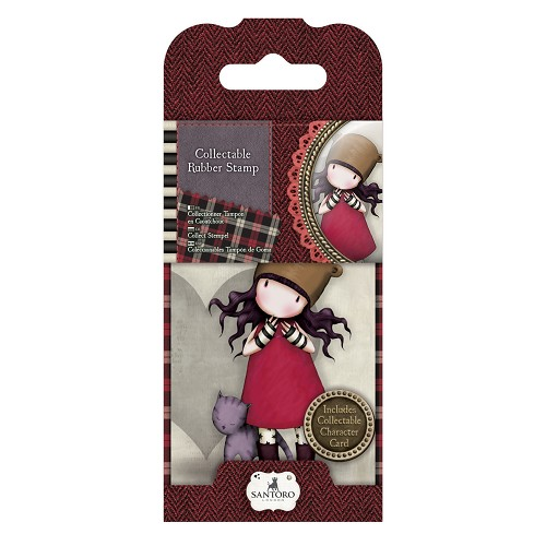 DoCrafts - Mini Rubber Stamp Gorjuss- Santoro - No. 10 Purrrrrrfect Love