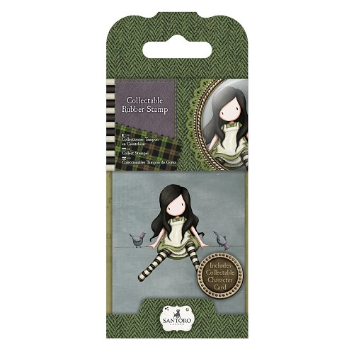 DoCrafts - Mini Rubber Stamp Gorjuss- Santoro - No. 12 On Top Of The World