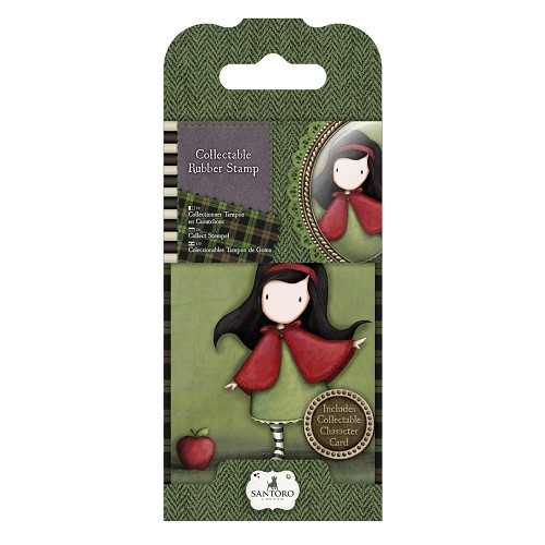 DoCrafts - Mini Rubber Stamp Gorjuss - Santoro - No. 14 Little Red