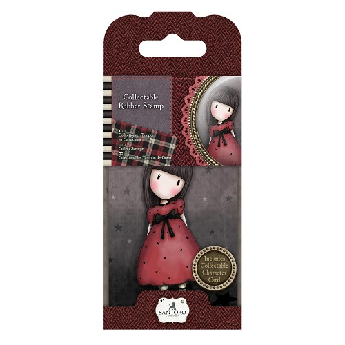 DoCrafts - Mini Rubber Stamp Gorjuss - Santoro - No. 15 The Black Star