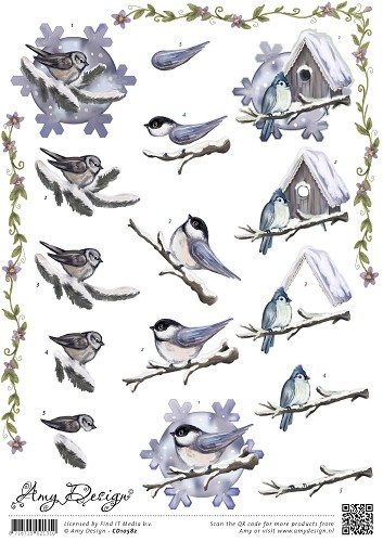Amy Design - Amy Design kerst - Winterbirds
