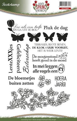 Amy Design - Clearstamp - Spring - Tekst