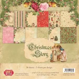 Craft & You Design - Small paper pad - Christmas Story