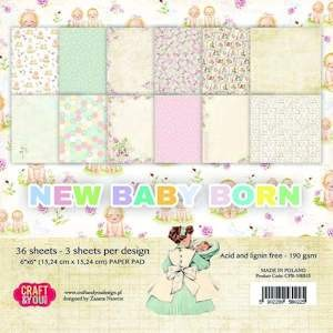 Craft & You Design - Small paper pad - New Baby Born