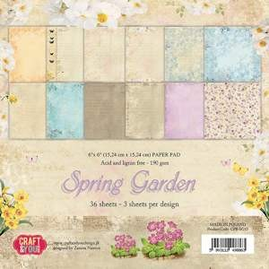 Craft & You Design - Small paper pad - Spring Garden