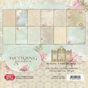 Craft & You Design - Small paper pad - Wedding Garden