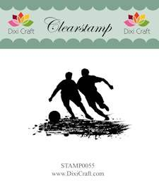 Dixi Craft - Clearstamp - Boys playing football
