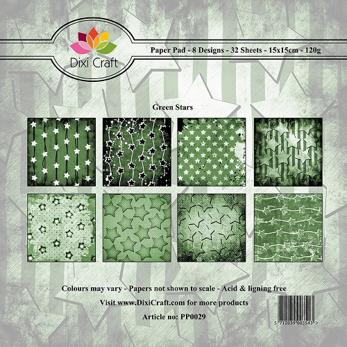 Dixi Craft - Paperpack - Green Stars