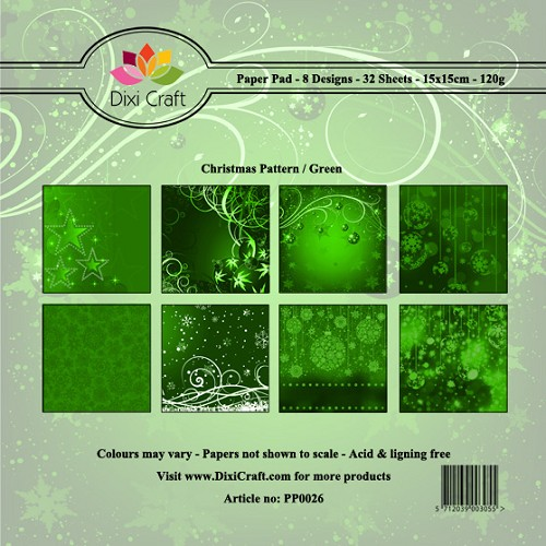Dixi Craft - Paperpack - Christmas Pattern - Green