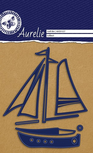 Aurelie - Snij-& embossingsmal -  Sailboat / Zeilboot